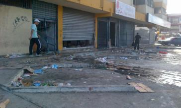 Zahlreiche Ladenlokale wurden aufgebrochen