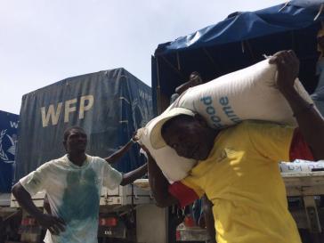 89 Tonnen Reis, Öl und Bohnen wurden im Süden Haitis bereits durch die Vereinten Nationen verteilt