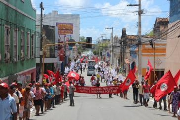 Demonstration der Landlosenbewegung MST gegen die Straflosigkeit und Gewalt