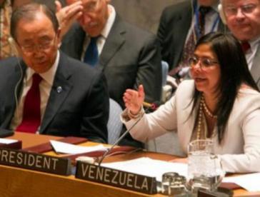 Venezuelas Außenministerin Delcy Rodríguez im UN-Sicherheitsrat