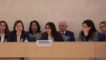 Venezuelas Außenministerin Rodríguez vor dem UN-Menschenrechtsrat