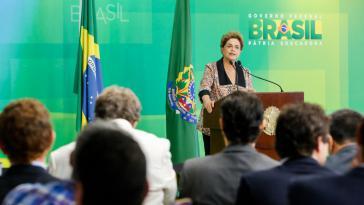 Brasiliens Präsidentin Dilma Rousseff bei der Pressekonferenz am Dienstag