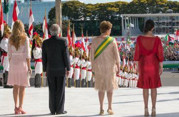 Bild aus besseren Tagen: Amtseinführung von Rousseff und Temer Anfang 2015