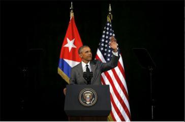 US-Präsident Barack Obama bei seiner Ansprache im Gran Teatro de La Habana