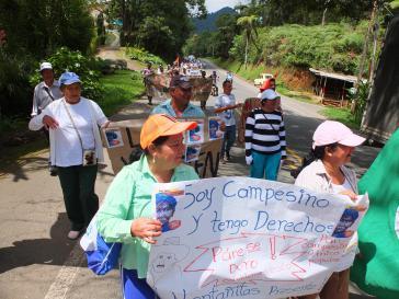 Immer mehr Bauern schlossen sich im ganzen Land dem Streik an, so wie hier im Valle del Cauca