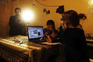 Produktion einer Radiosendung von DTL! Comuncación Popular Buenos Aires in Tinogasta