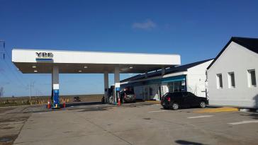 Tankstelle von YPF in Garayalde, Provinz Chubut