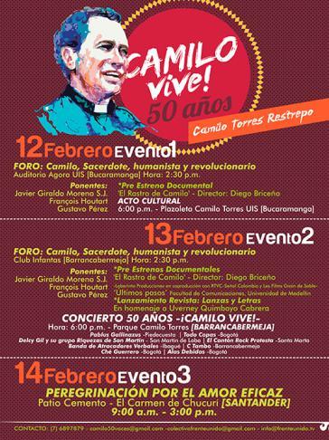 Veranstaltungsplakat zu Camilo Torres' Todestag