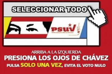 Trotz PSUV-Aufklärungskampagne gab es 697.947 ungültige Stimmen (4,77 Prozent) - eine Verdreifachung im Vergleich zu den letzten Parlamentswahlen