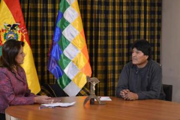 Der Präsident von Bolivien, Evo Morales, im Interview über das Massaker von Villa Tunari vor 28 Jahren