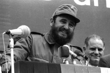 Fidel Castro bei seinem Besuch in der DDR 1972