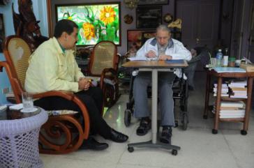 Nicolás Maduro bei Fidel Castro