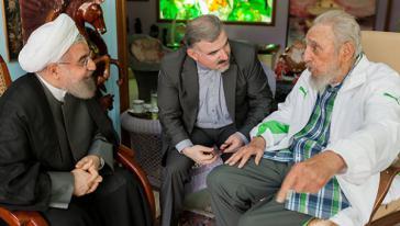 Iranischer Präsident Hassan Rouhani zu Besuch bei Fidel Castro in Kuba