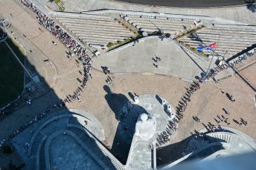 Luftaufnahme des Revolutionsplatzes in Havanna