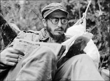 Fidel Castro während des Guerillakampfes