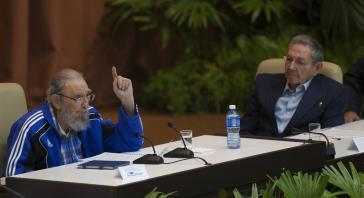 Fidel Castro bei seiner kurzen Ansprache am Montag