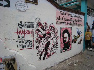 Graffiti gegen Folter in Mexiko