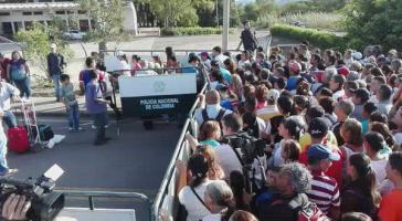 Am Grenzübergang nach Kolumbien, der am 10. Juli für einen Tag geöffnet war
