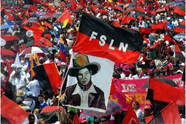 Kundgebung am 19. Juli 2016 in Managua zum Jahrestag der Sandinistischen Revolution