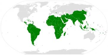 Zur Gruppe der 77 gehören heute 134 Ländern des globalen Südens und China