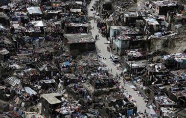 Vom Hurrikan Matthew zerstörte Häuser in Haiti. Venezuela hilft beim Wiederaufbau