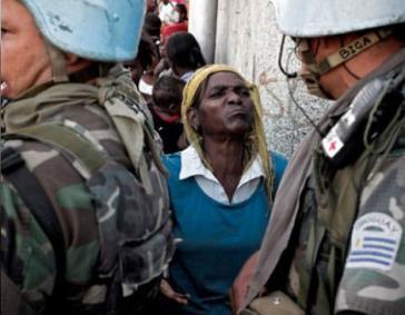 """Proteste gegen die """"UN-Mission zur Stabilisierung Haitis"""""""