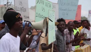 Die Proteste gegen die Minustah und ausländische Interventionen nehmen zu