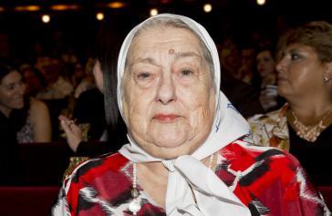 Hebe de Bonafini (März 2015), die Vorsitzende der Madres de Plaza de Mayo
