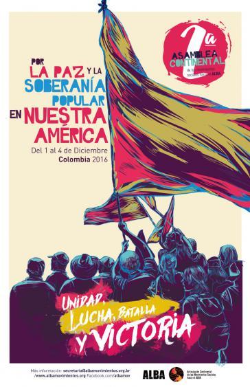 Plakat zum zweiten Treffen der Alba-Bewegungen