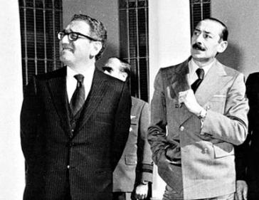 Kissinger und Diktator Videla