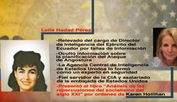Leila Hadad Pérez, hier links im Bild. Das Foto stammt aus einem Bericht des Fernsehsenders Telesur