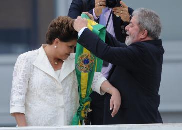 Rousseff und Lula bei der Amtseinführung: Können beide das Ruder noch einmal herumreißen?