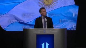 """Macri beim """"Mini Davos"""" genannten Forum für Investitionen und Business in Buenos Aires Mitte September"""