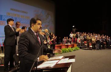 Präsident Maduro stellt den  Nationalen Rat der produktiven Wirtschaft vor