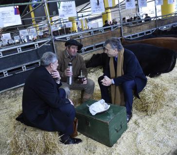 Präsident Macri bei einer Landwirtschaftsausstellung
