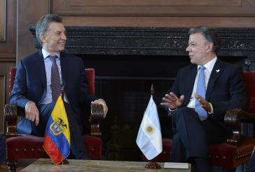 Macri und Santos bei den Gesprächen in Kolumbien