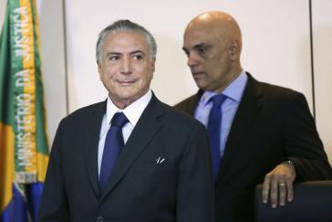 Michel Temer und Justizminister de Moraes (rechts)