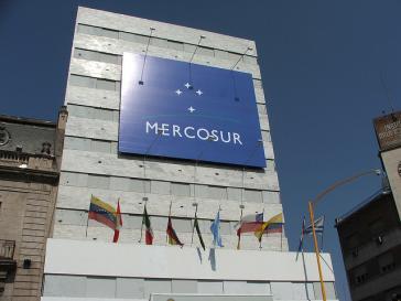Am Sitz des Mercosur in Montevideo, Uruguay. Der Streit um Venezuela wird vor allem hier ausgetragen