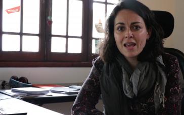 Ana Ruelas ist bei der Organisation Article 19 für Mexiko und Zentralamerika zuständig