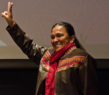Milagro Sala während eines Forums im Juli 2015