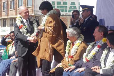Evo Morales und Rosatom-Chef Sergey Kiriyenko