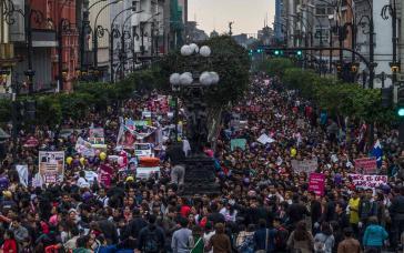 """""""Ni una menos""""-Demonstration in Lima"""