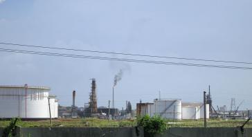 Die Ölraffinerie des kubanischen Unternehmens Cupet in der Nähe von Kubas Hauptstadt Havanna