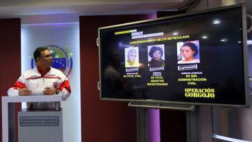 Innenminister Lopez berichtete im Fernsehen über die Festnahmen