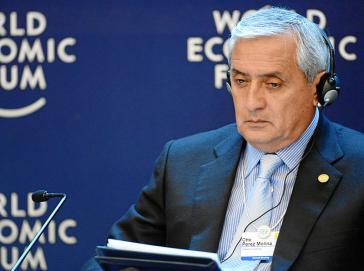 Otto Pérez Molina beim Weltwirtschaftsforum in der Schweiz (2013)