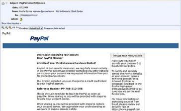 Paypal: Konto eingeschränkt