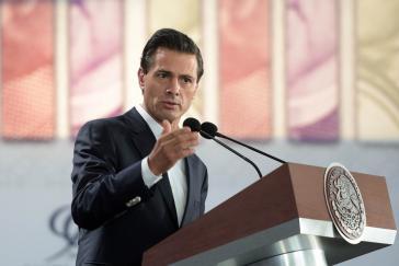 Mexikos Präsident Enrique Peña Nieto ist auf Staatsbesuch in Deutschland