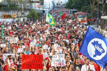 Demonstration gegen De-facto-Präsident Michel Temer am Sonntag in São Paulo