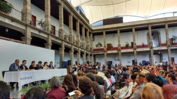 Pressekonferenz der Expertenkommission (GIEI) in Mexiko-Stadt