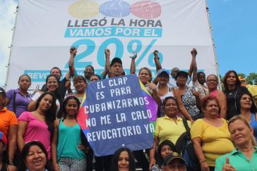 """MUD-Protest gegen die Bürgerkomitees: """"Die CLAP sollen uns kubanisieren - Referendum jetzt"""""""